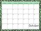 2013-2014 Blank Zebra Print Calendar Full Year