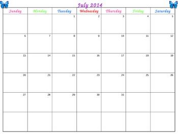 2013-2014 Calendar and Teacher Binder Contents