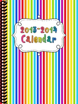 2013-2014 Colorful Calendar