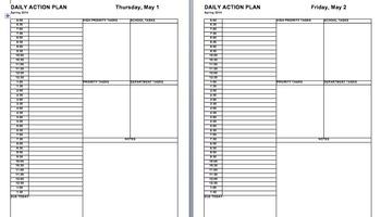 2013-2014 Daily Action Plan and Teacher Calendar