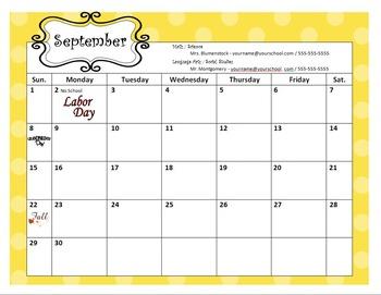 2013-2014 Editable Calendar