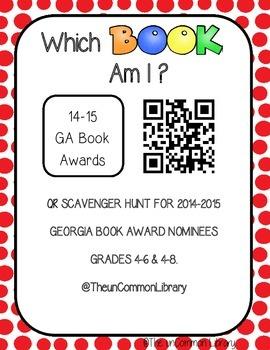 2014-2015 Georgia Book Award QR Scavenger Hunt / Posters