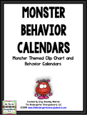 Behavior Calendars!  2017-2018  Monster Theme Behavior Calendars