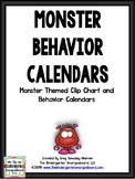 Behavior Calendars!  2017-2018  Monster Theme Behavior Calendars