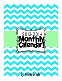 2013-2014 Monthly Calendars (black and white)