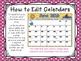 2016-2017 EDITABLE Monthly Planning Calendars {color & black/white-horizontal}