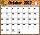 2017-2018 EDITABLE Monthly Planning Calendars {color & black/white-horizontal}