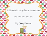 2017-2018 Monthly Student Calendars (Kindergarten Math Common Core)