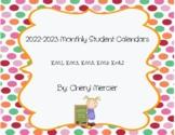 2018-2019 Monthly Student Calendars (Kindergarten Math Common Core)