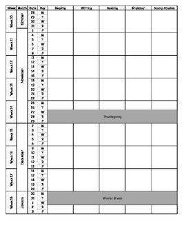2013-2014 Pacing Calendar