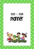 2015 - 2016 Planner cover