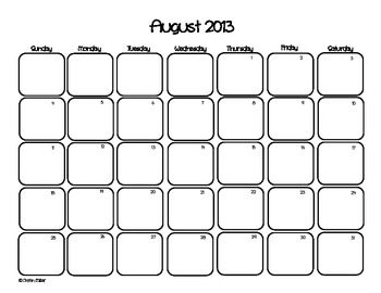2013-2014 Planning Calendar