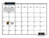 2013-2014 Planning Calendar (with graphics & quotes)