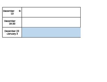 2013-2014 Planning Form