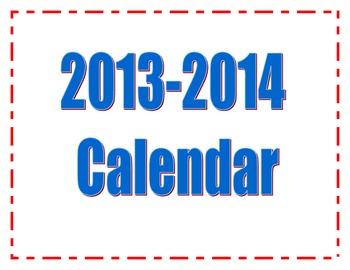 2013-2014 Printable Calendar