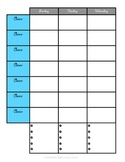 Sanity Saver: Lesson Planning Form (Artsy Blues)