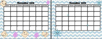 2013-2014 School Year Calendar - Kawaii