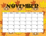 2013-2014 Seasonal Binder/Folder Calendar Landscape 8.5 x 11
