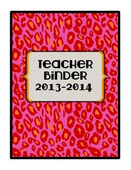 2013-2014 Teacher Binder