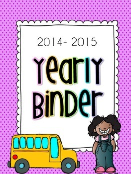 2014-2015 Teacher Binder- EVERYTHING included!