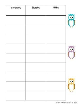 2013-2014 Teacher Binder- Pink Owl theme