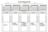 2013-2014 Year-long Pacing Guide with Planning Space FREEBIE!