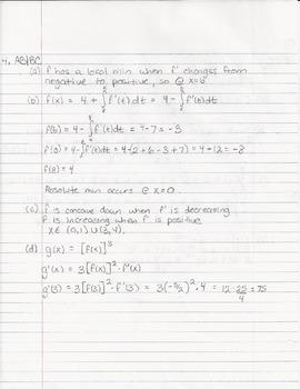 2013 AP FRQ Calculus BC Solutions