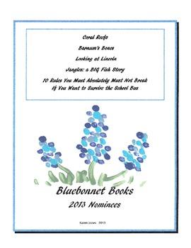 2013 Bluebonnet Picture Book Nominee Quizzes
