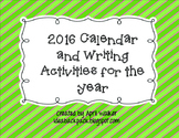 2016 Calendar and Year of Writing Prompts (Christmas Gift for Parents)