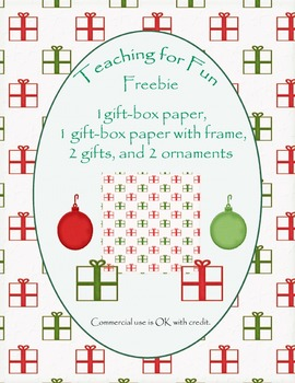 2013 Christmas Clipart -- Gift box and paper