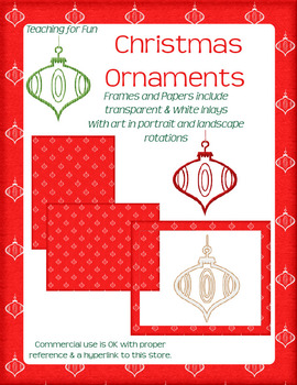 2013 Christmas Ornament Clipart and Paper