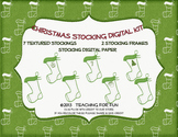 Christmas Stocking Clip Art, Frames, and Papers