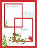 Christmas Transparent Frames 8.5 by 11
