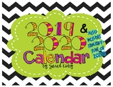 2018 AND 2019 Editable Calendar - PDF Version