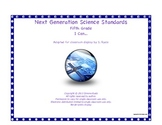 """5th Fifth Grade """"I Can"""" Printable Next Generation Science"""