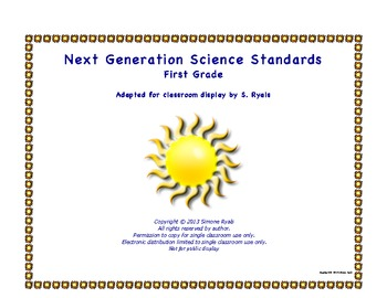1st First Grade Printable Next Generation Science Standard