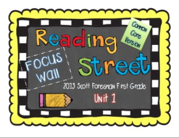 2013 First Grade Reading Street Common Core Unit 1 Focus Wall