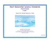 4th Fourth Grade I Can Printable Next Generation Science Standards NGSS Posters