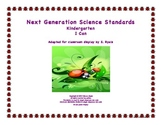 "Kindergarten K Next Generation Science Standards NGSS ""I Can"" Posters"