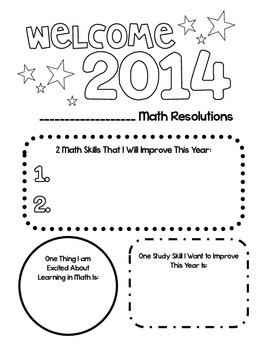 2014 Math Resolutions *FREEBIE*