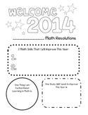 2014 Math Resolutions *FREEBIE*