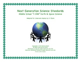 Middle School I CAN Next Generation EARTH SPACE Science Standards NGSS Posters