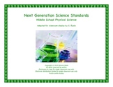 Middle School MS Next Generation I CAN PHYSICAL SCIENCE Standards NGSS Posters