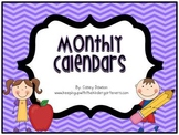 2016 Monthly Calendars