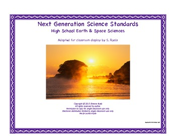 NGSS High School HS Next Generation Earth Space Science St