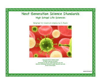 NGSS High School HS Next Generation Life Science Standards