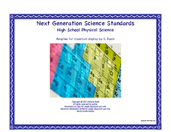 NGSS High School HS Next Generation Physical Science Standards Posters