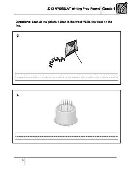 2013 NYSESLAT Grade 1 Writing Prep Packet #1