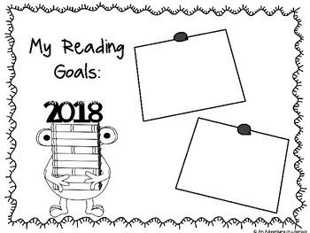 New Year's Reading Goals Graphic Organizer FREEBIE