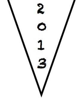 2013 New Years Resolution Pennant/Flag